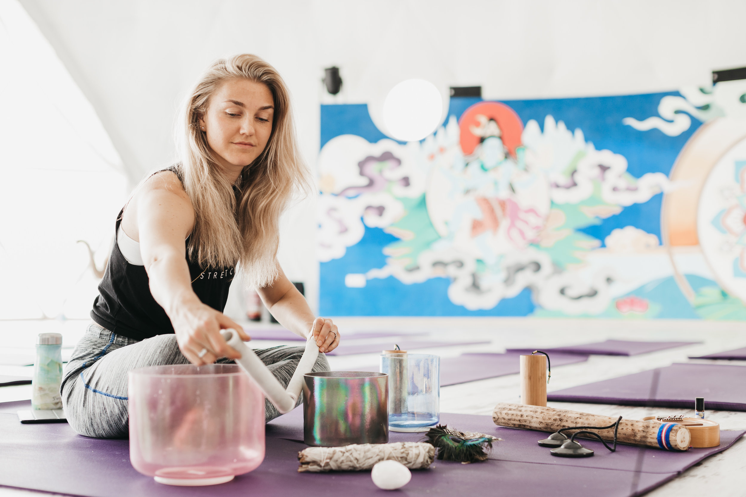 sound journeys - Crystal singing bowls, a voice that has sung in front of 20,000 and other magical instruments; what can you expect from a sound journey with Holly?