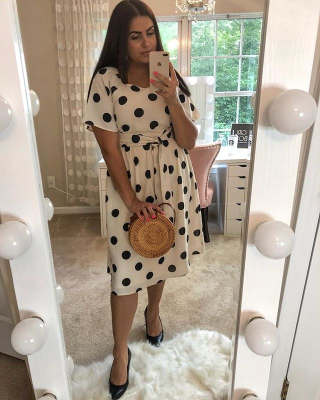"""We love our """"Bolinhas midi dress!"""" So cute and feminine, not to mention exceptional quality!   . . . . #aboutalook #chictopia #fashion #fashionaddict #fashionblog #fashionblogger #fashionstyle #fashiondiaries #fashionbloggers #fblogger #fbloggers #fromwhereistand #ootdmagazine #ootdbloggers #ootd #outfitdiaries #outfitoftheday #stylediaries #whatiwear #whatiworetoday #styleinspo #styleblog #outfitideas #outfitinspiration #styleoftheday #styleblogger"""