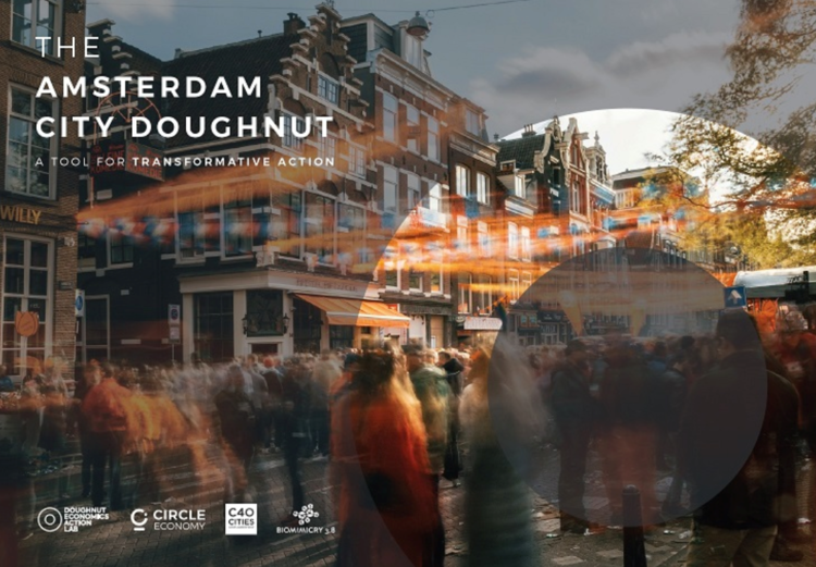 The city of Amsterdam has embraced the Doughnut Economics Model for all future public policy decisions. Image: Kate Raworth