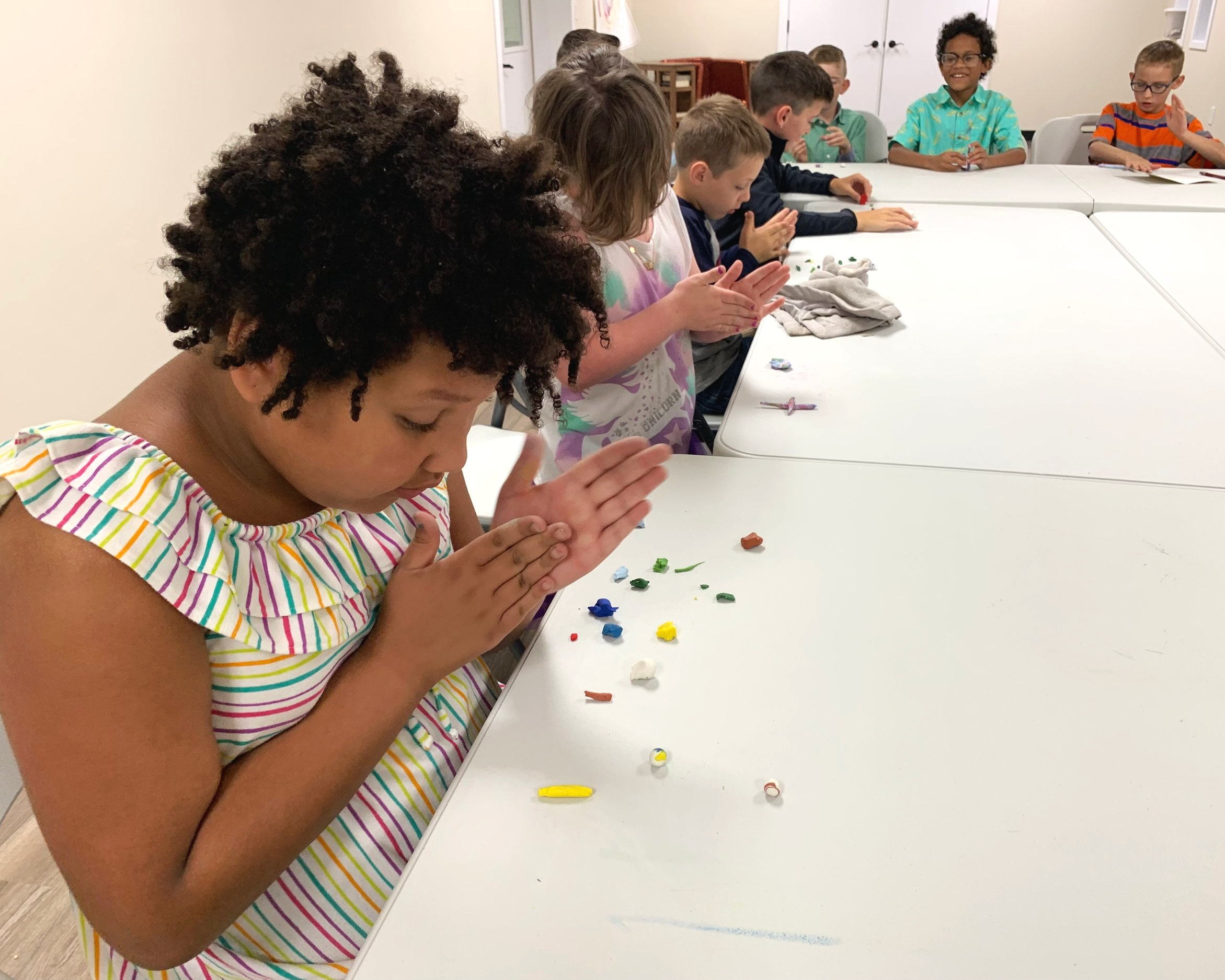 Sprouts Kids 7-12 - Our Sprouts Kids love learning about Jesus! In here the kids dig into the bible, memorize scripture, worship, do crafts and much more! You can trust the kids will have fun and grow deeper in the word of God!