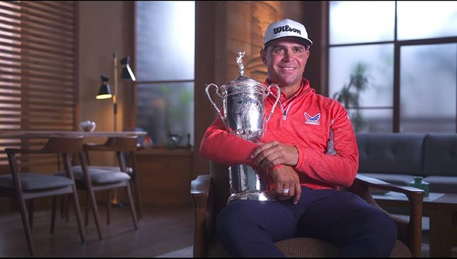 Just one last pic from the US Open! The interview with champion, @gary.woodland