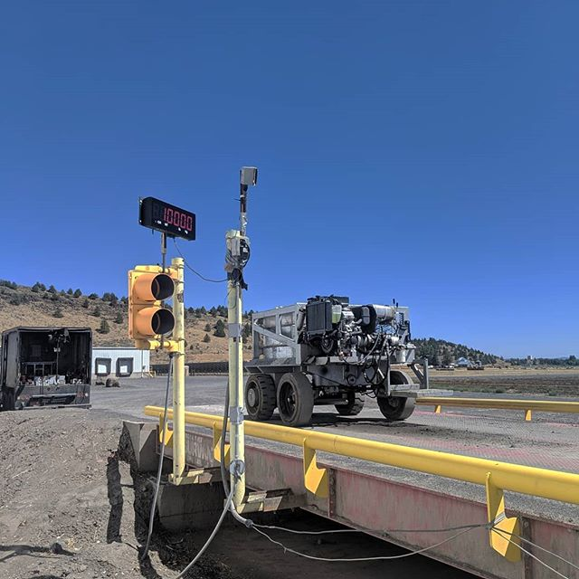 A little adjusting of truck scales out in Klamath Falls this week. . . . .  #10kallday #ricelakeweighingsystems #ricelake #weightsandmeasures #calibration #truckscale #klamathfalls #oregon
