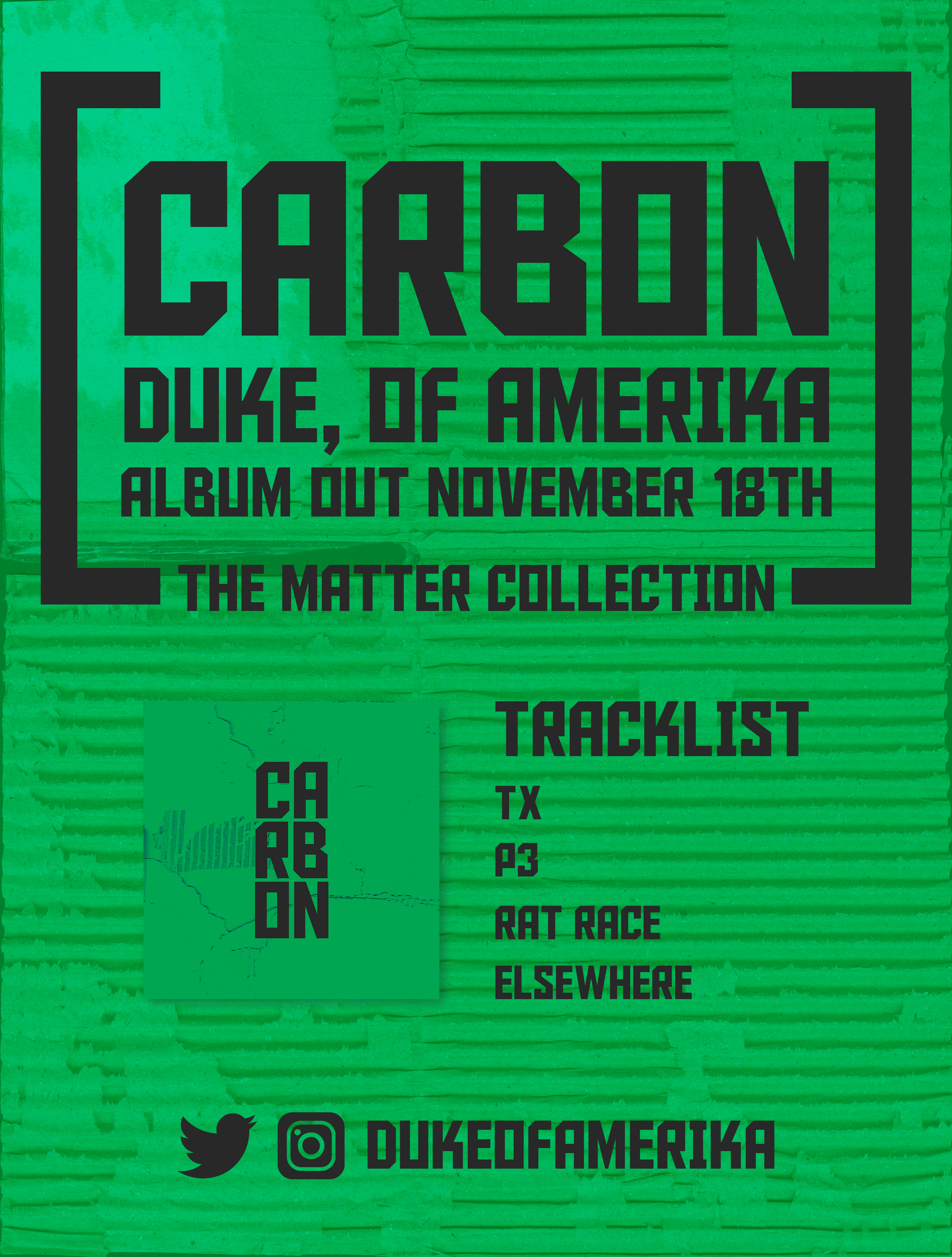 Carbon  Release/Promotional Poster