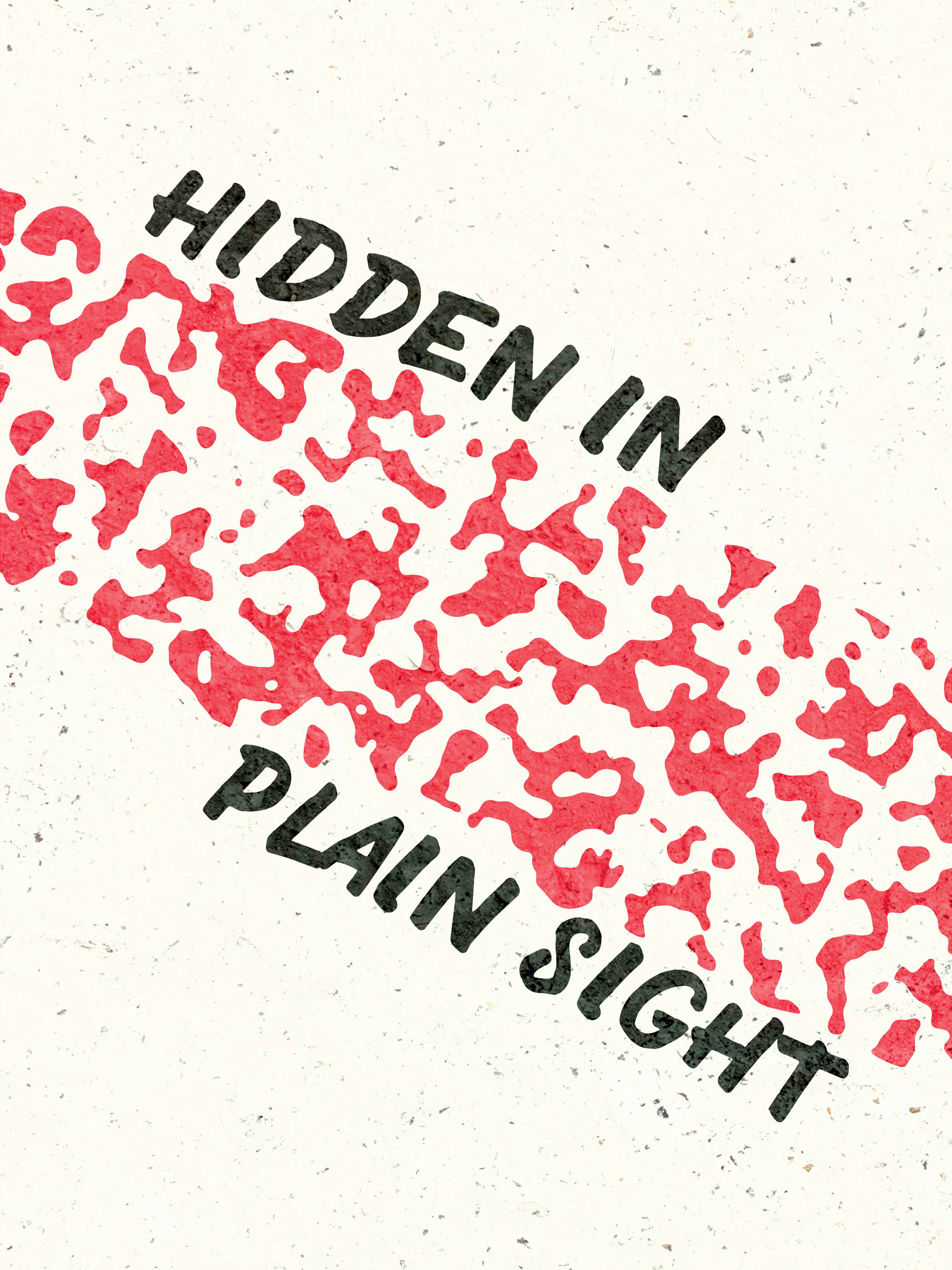 Example of a minimal use of negative space. Notice how the combination of the red and the negative space around create a camouflage effect.  Hidden in Plain Sight  by Samuel J. Stroud. Taken from the  Daily Posters project .