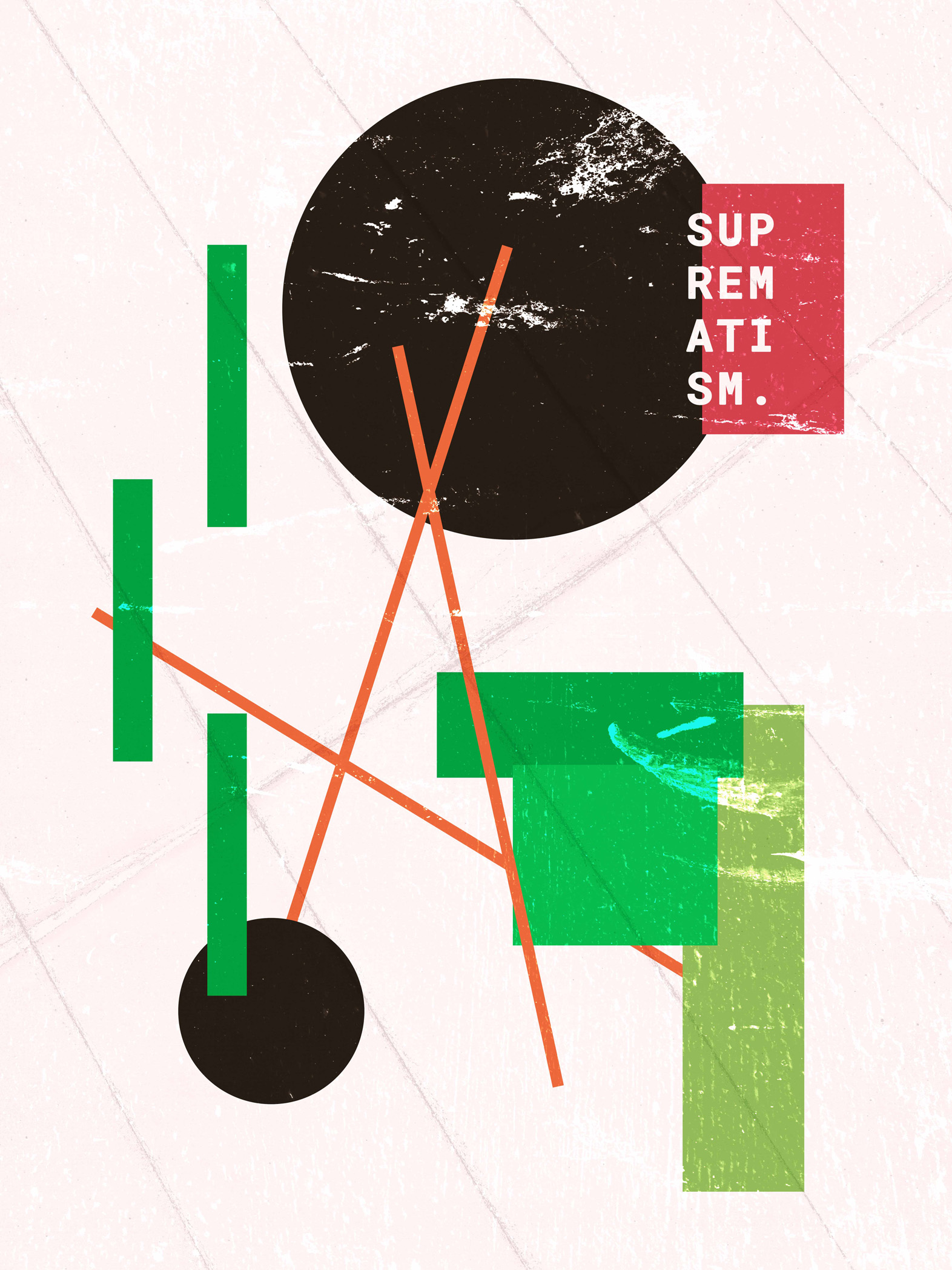 Example of proximity being used. Not the similarities between colours, as well as general shapes.  Suprematism  by Samuel J. Stroud. Taken from the  Daily Posters project.