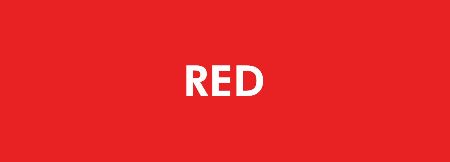 Graphic Design Colour Theory - Red