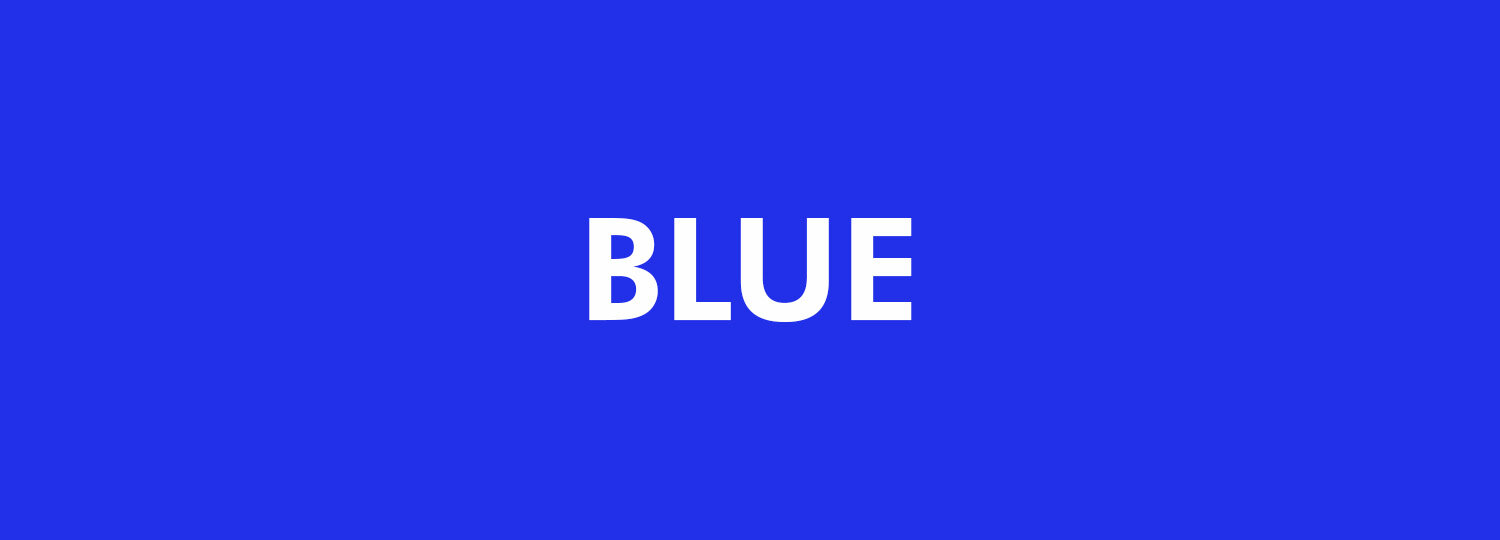 Graphic Design Colour Theory - Blue