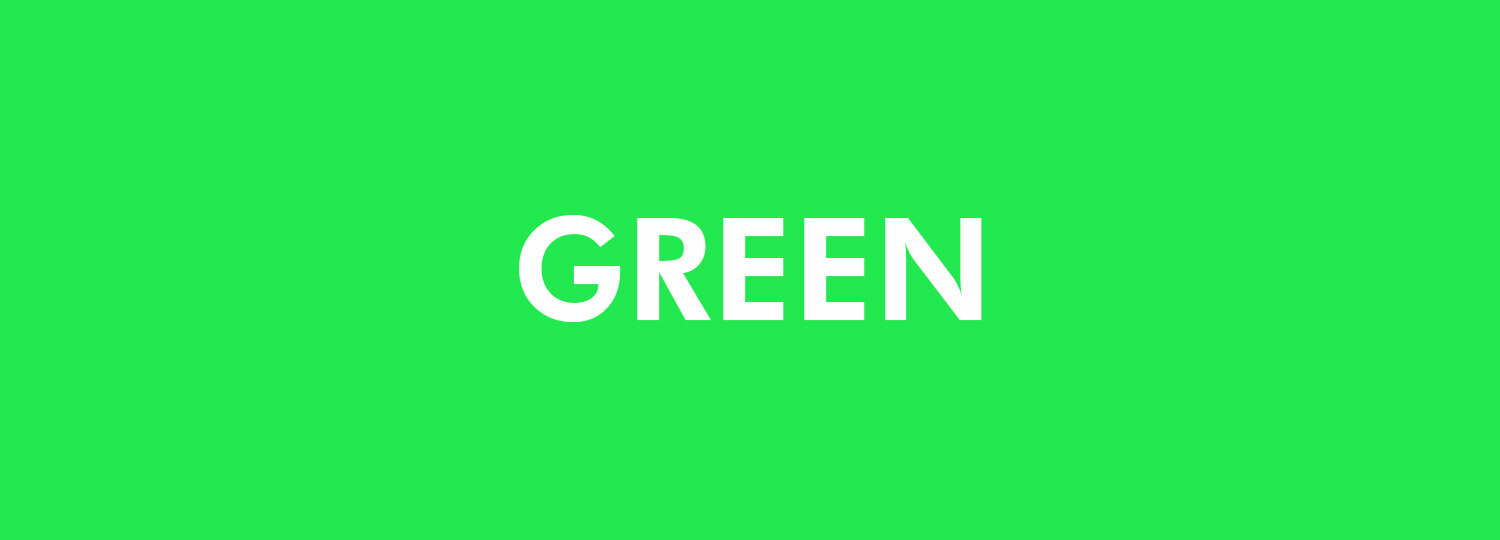 Graphic Design Colour Theory - Green