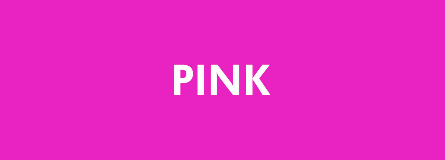Graphic Design Colour Theory - Pink