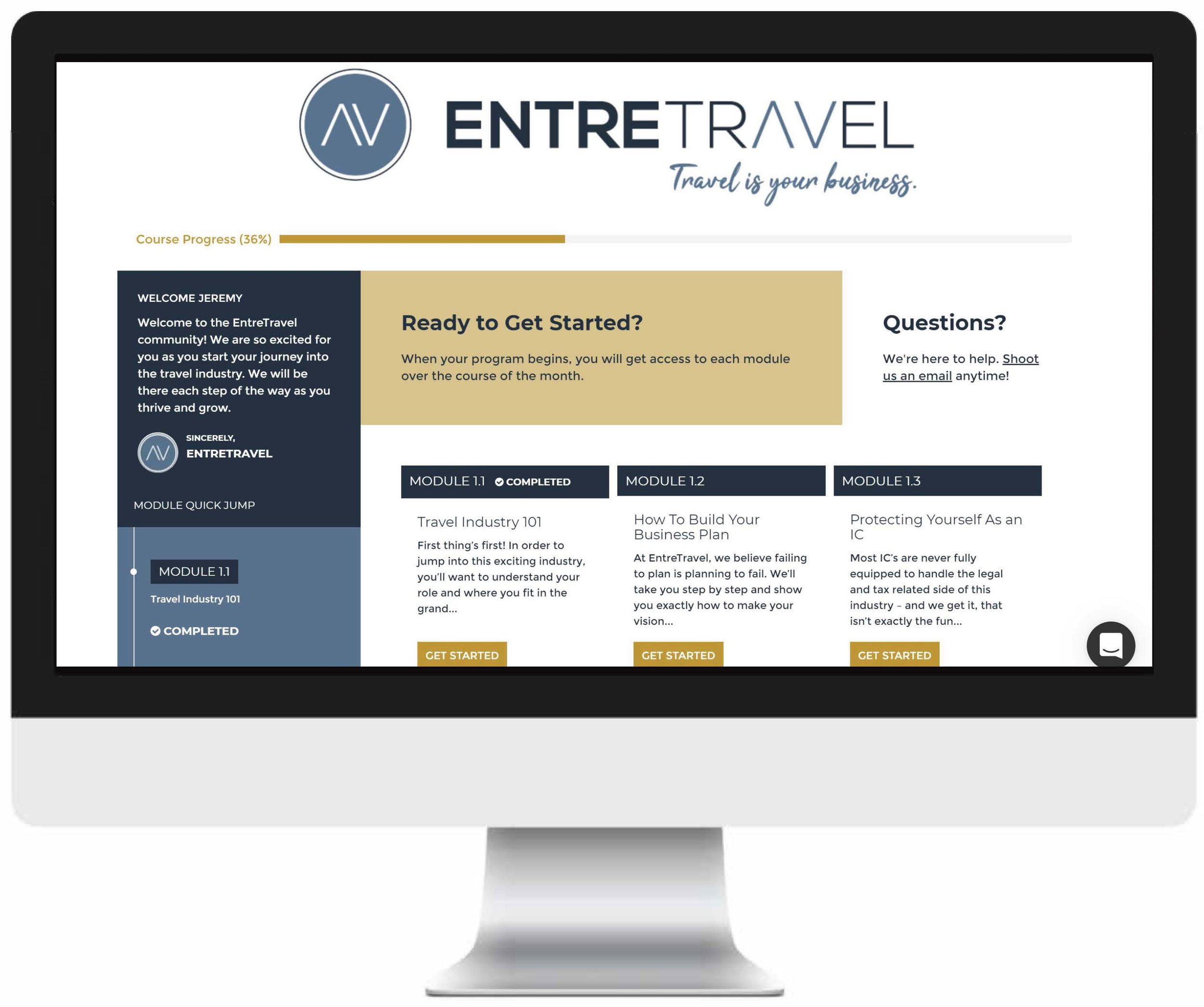 Your Curriculum - Over four weeks, this online course will take you step by step from concept to design to execution when it comes to being a successful travel entrepreneur. You'll walk away prepared to see great success and generate a growing income from your career as a travel advisor.