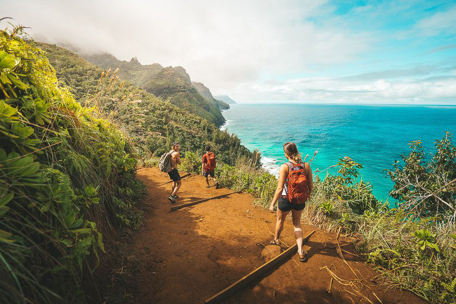 HIKING - Kauai is hiking paradise. There is no doubt about that. The Na Pali coast has some of the most epic ridges and drop-offs in the world.Kalalau TrailAwaawapuhi TrailHanakapiai Trail