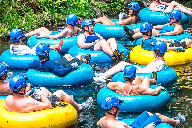 TUBING - This Kauai tubing adventure starts with a drive through former Lihue Plantation lands deep into the island's emerald green interior. Once at the launch site, you'll be outfitted with a tube and a headlamp. Then get ready to float down the gently flowing waters, through several amazing tunnels and flumes engineered and hand dug around 1870!Kauai Backcountry Adventures