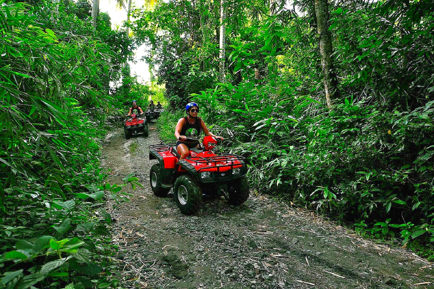 ATV - Kauai ATV tours are a great combination of island sightseeing and a fun activity. Hop on an ATV (or share one with a friend or family member) and explore Kauai's countryside – areas that are off limits to regular cars. Drive along dirt roads and through streams and mud pools and enjoy scenic views along the way.Kipu Ranch AdventuresKauai ATVPrinceville Ranch Adventures