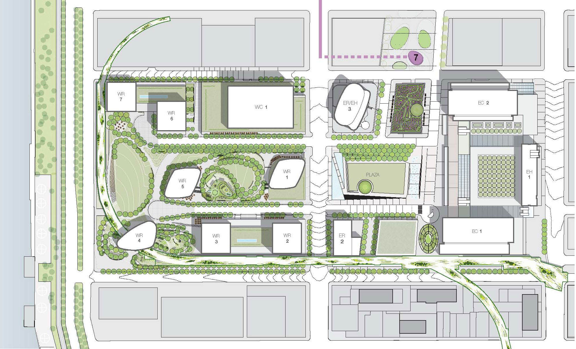 2009 Site Plan (click to enlarge)