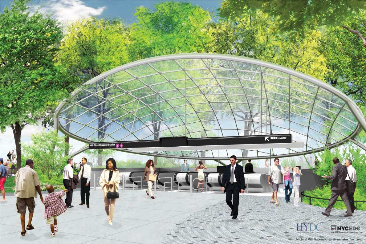 Illustrative view of subway canopy. (click to enlarge)
