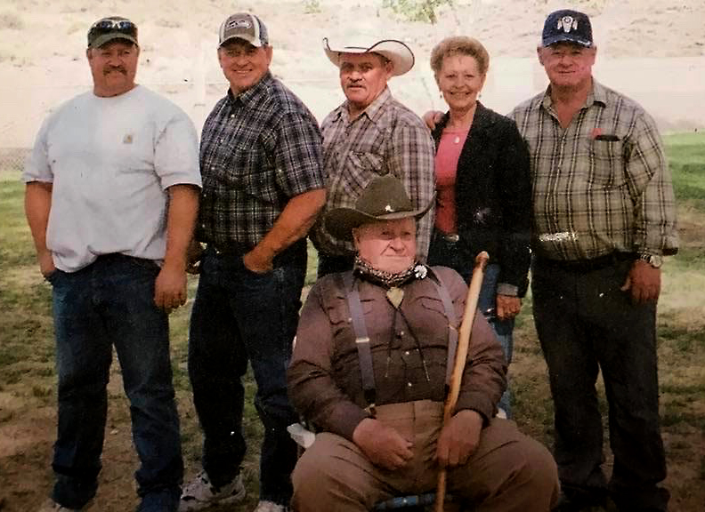 Lynn Otteson and The 2nd Generation Of Turquoise Miners – Left To Right: Danny, Tommy, Dean, Dixie & David Otteson