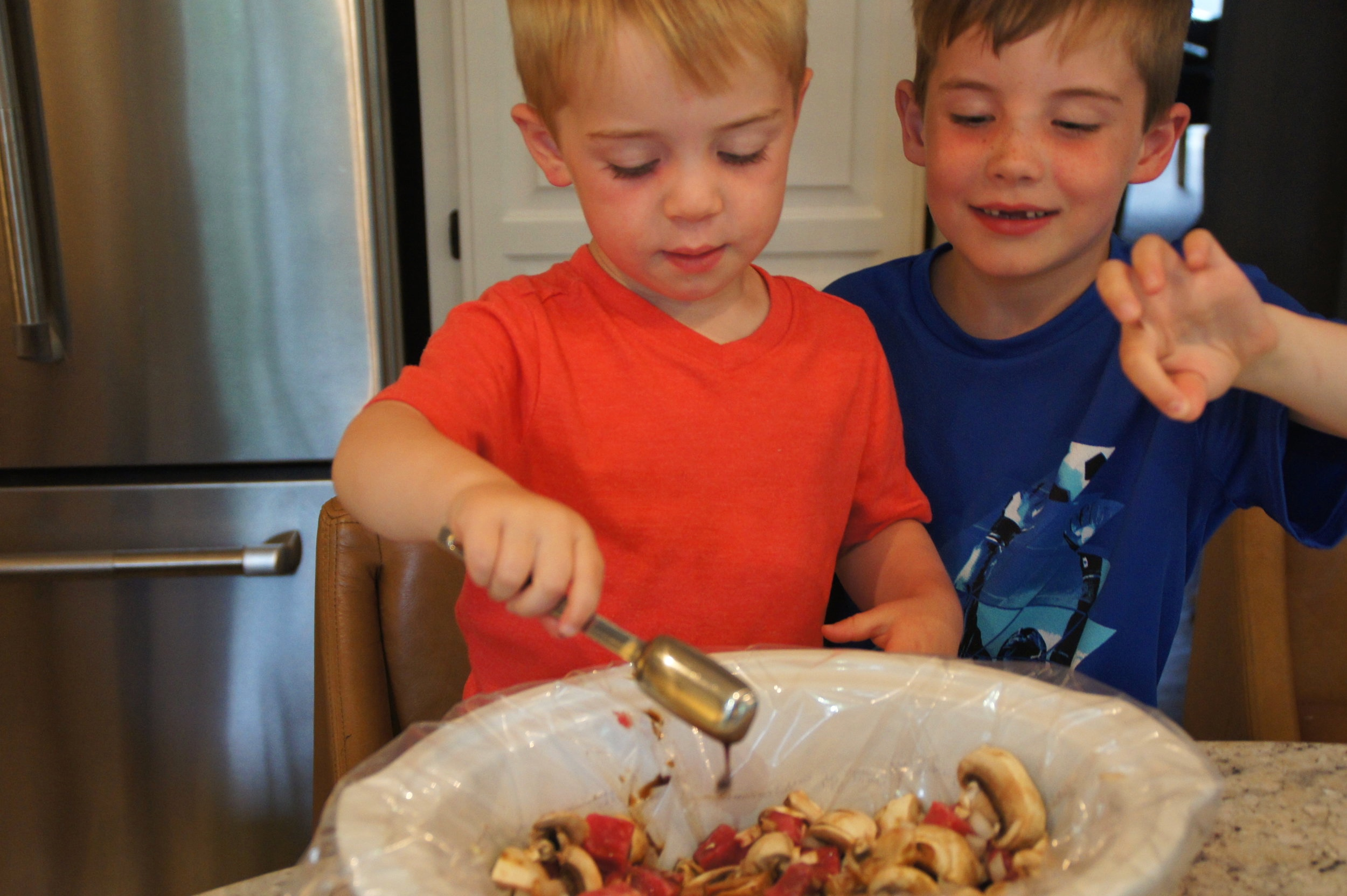 Will and Jack - my little sous chefs!