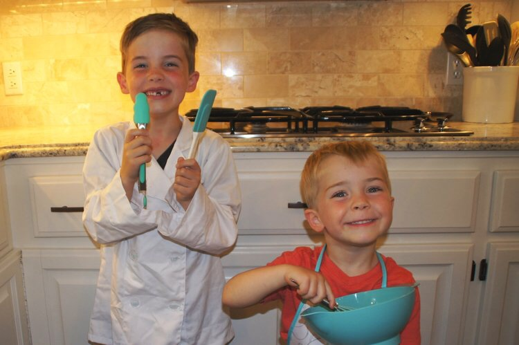 My little sous chefs - Jack(6) & Will(3)