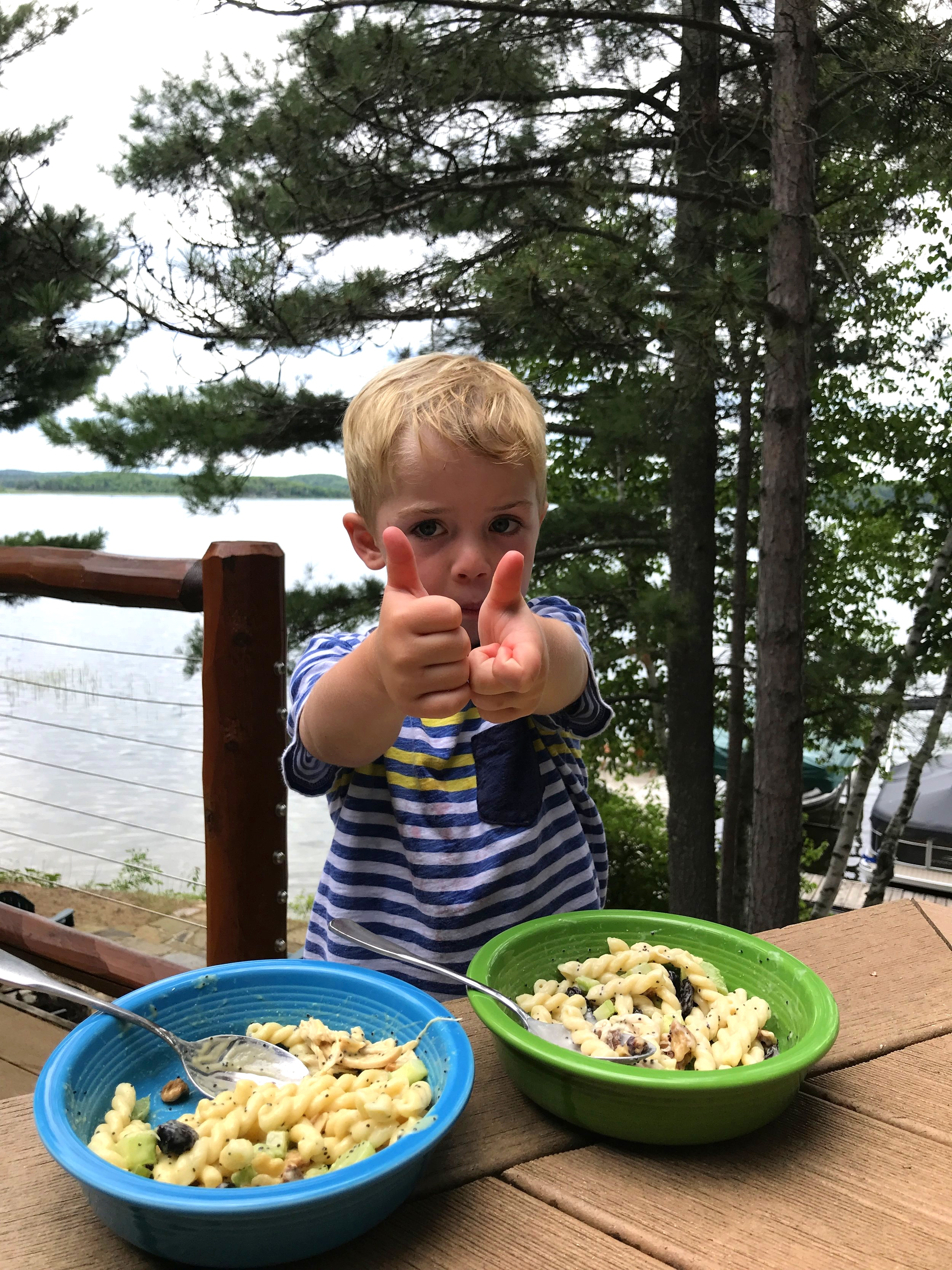 Will is my best little sampler during recipe development. This one is toddler approved!