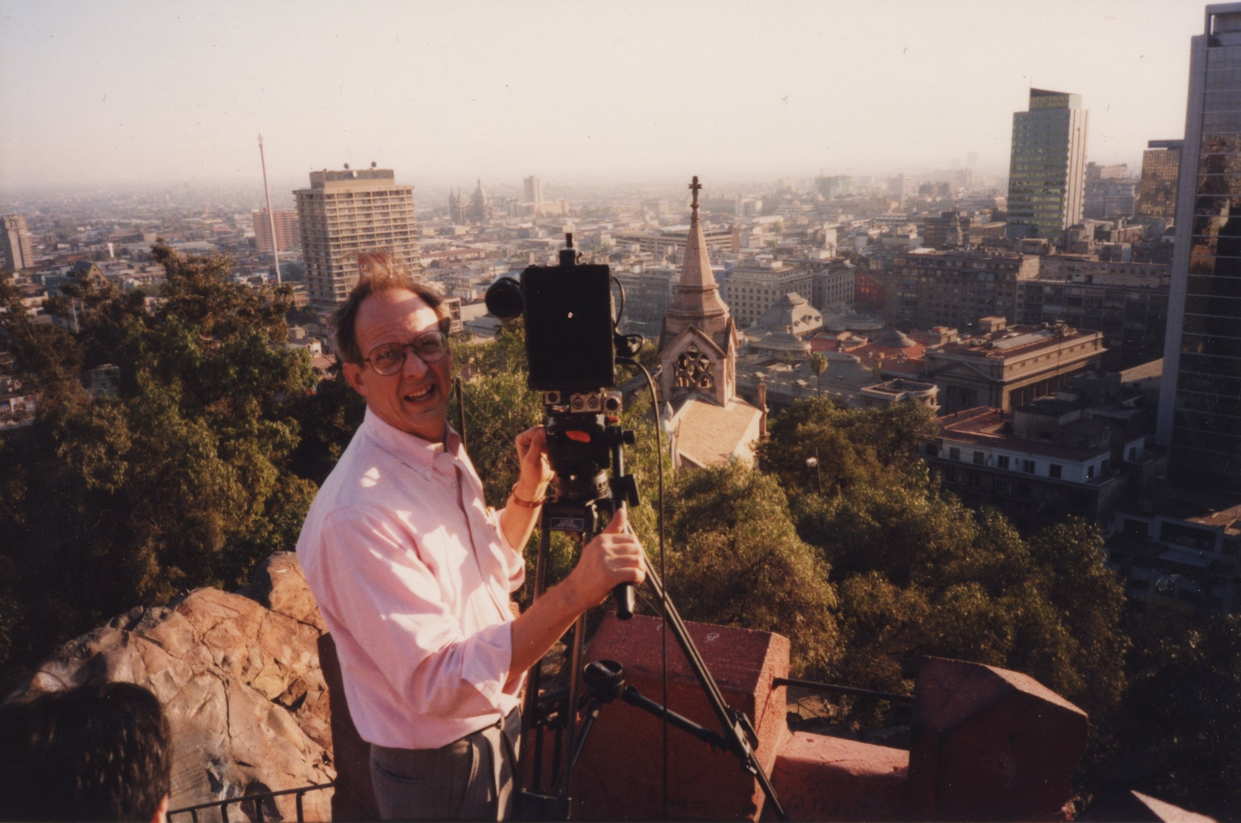Steve York on location in Chile, 1998.