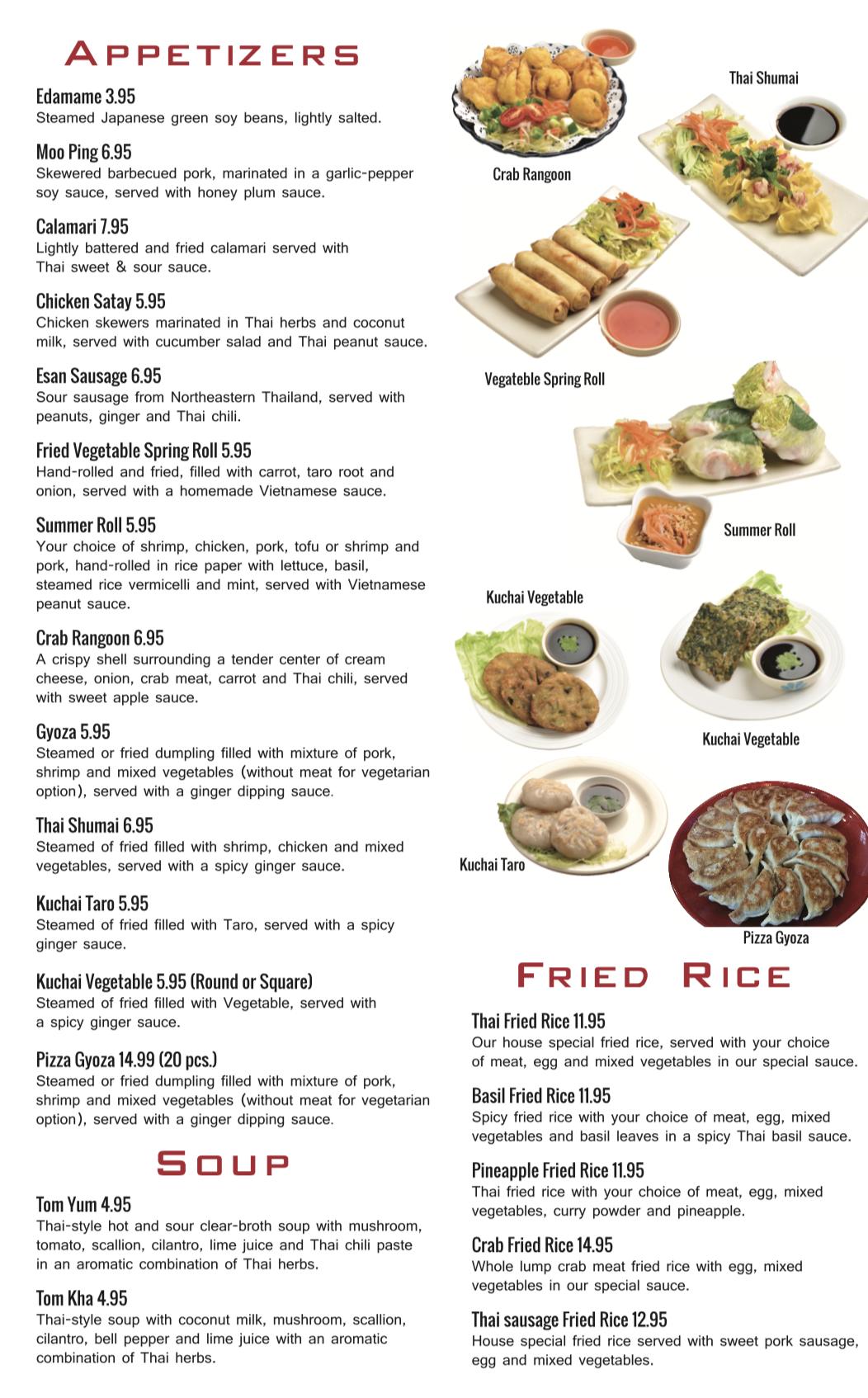 Best Thai | Best Vietnamese | New Haven  CT | Thai Menu — Pho Thai