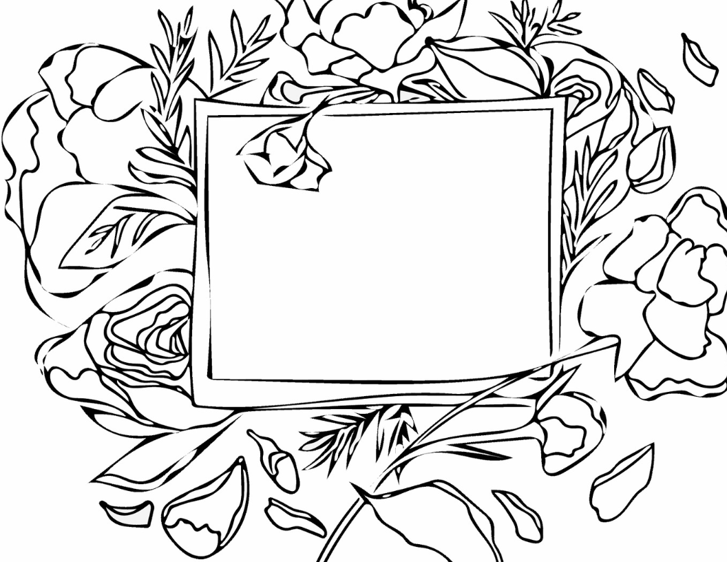 Free Printable Floral Name Tag Coloring Page - English Teacher Em.png
