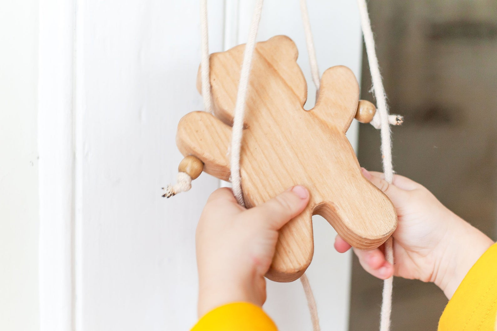 wooden climbing bear