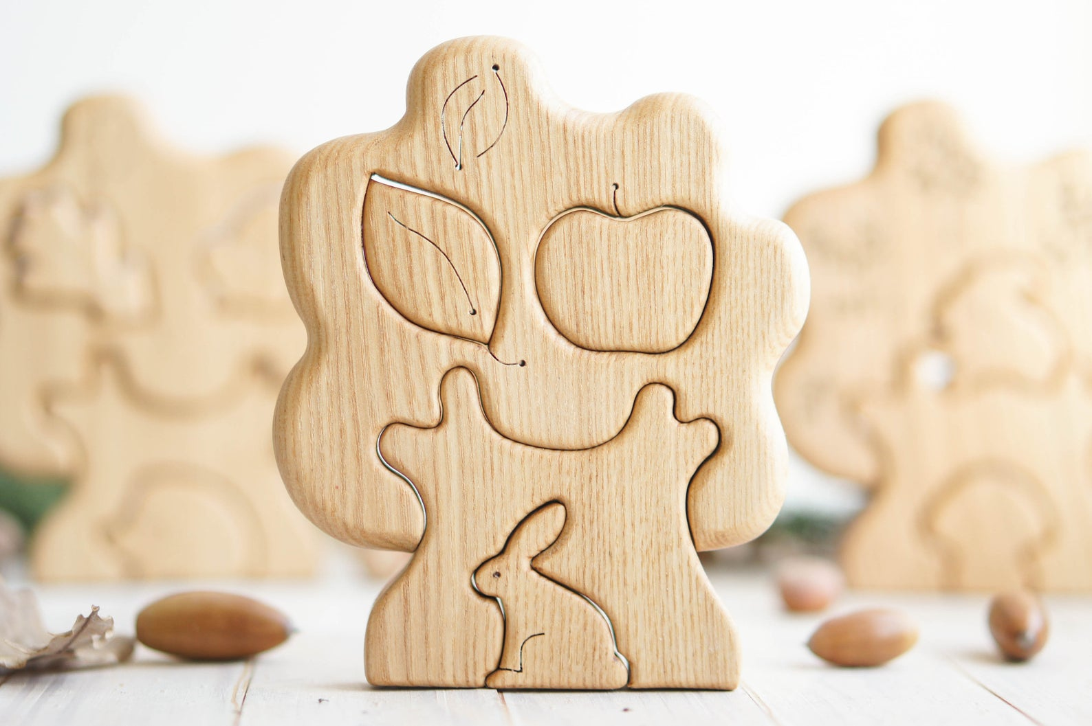 tree and rabbit wooden puzzle