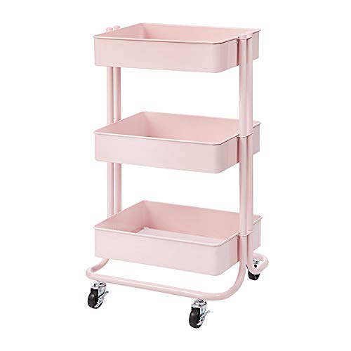 pink rolling cart