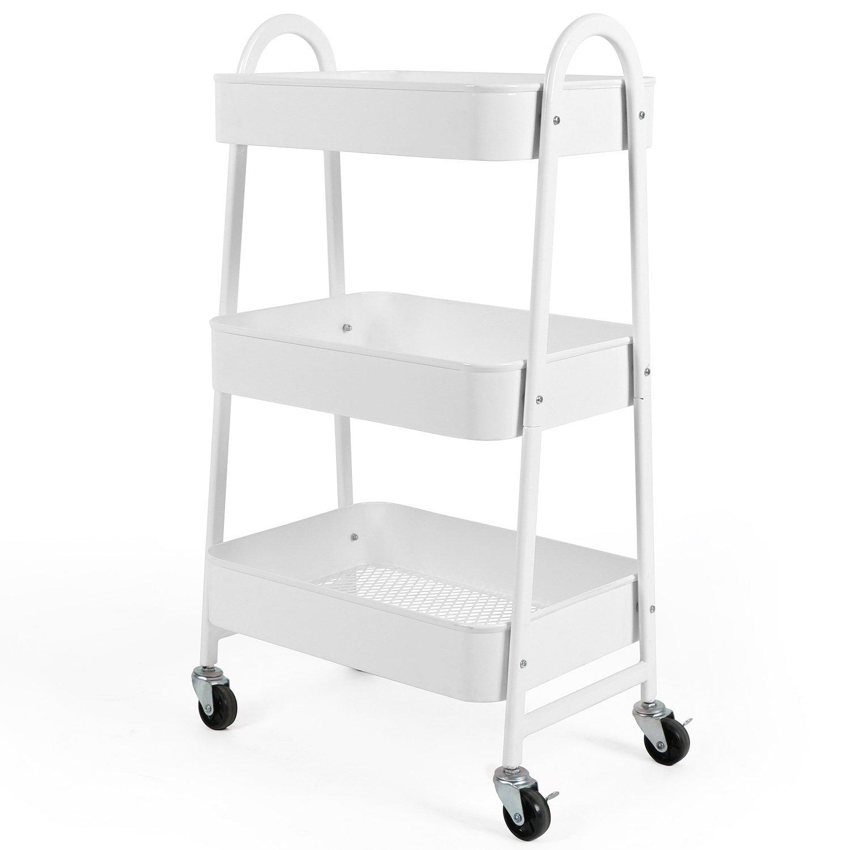 white utility cart