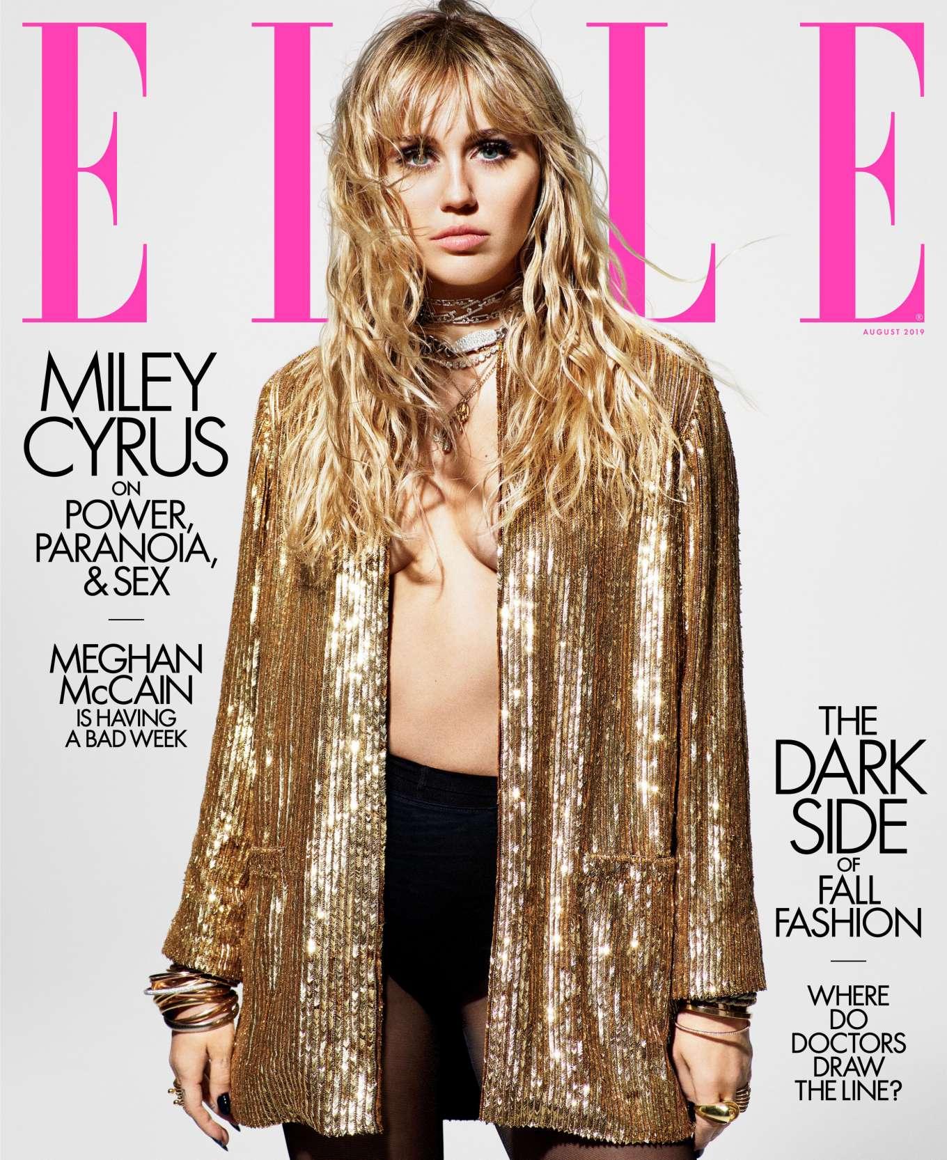 Miley Cyrus - ELLE August 2019