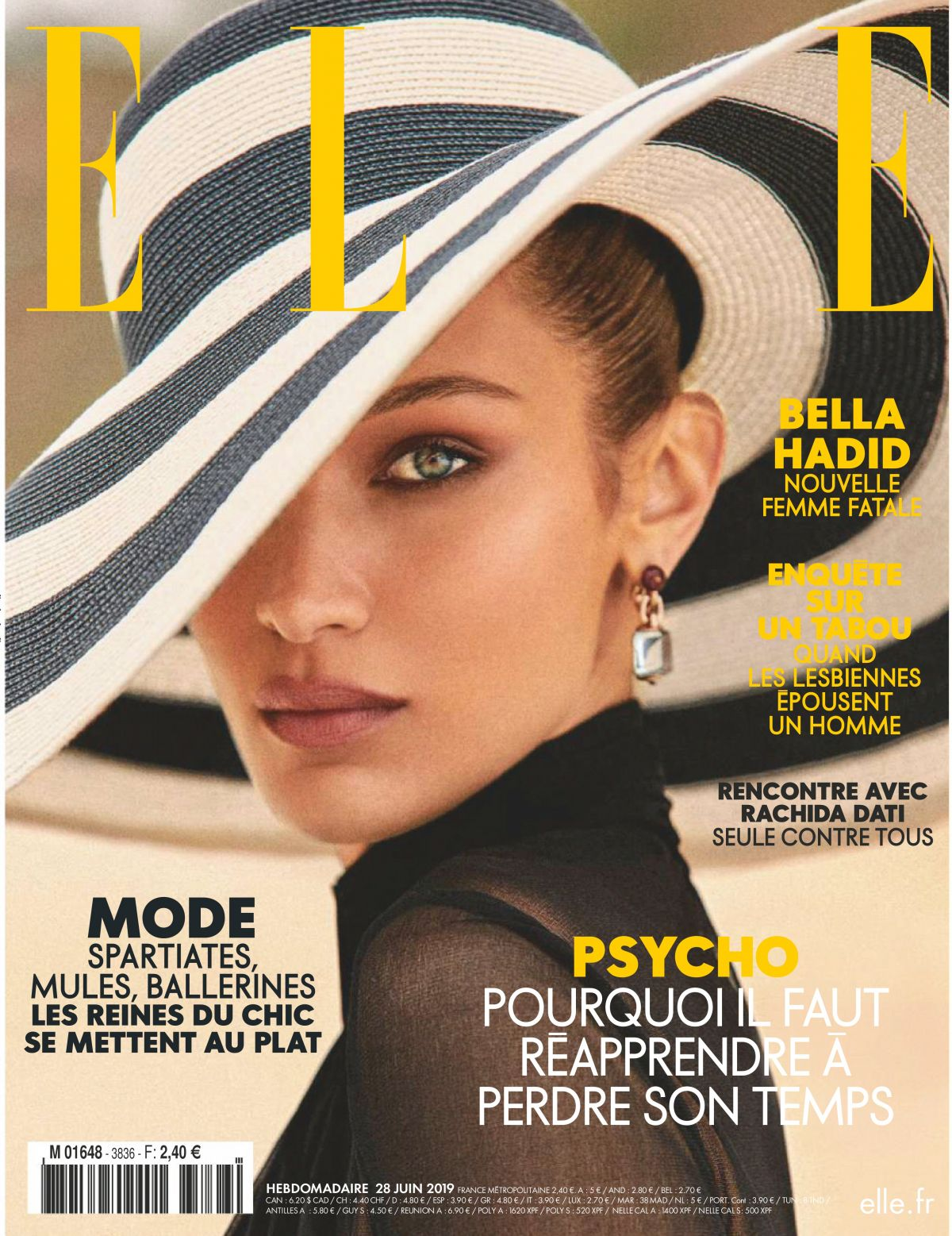 Bella Hadid - ELLE France June 2019