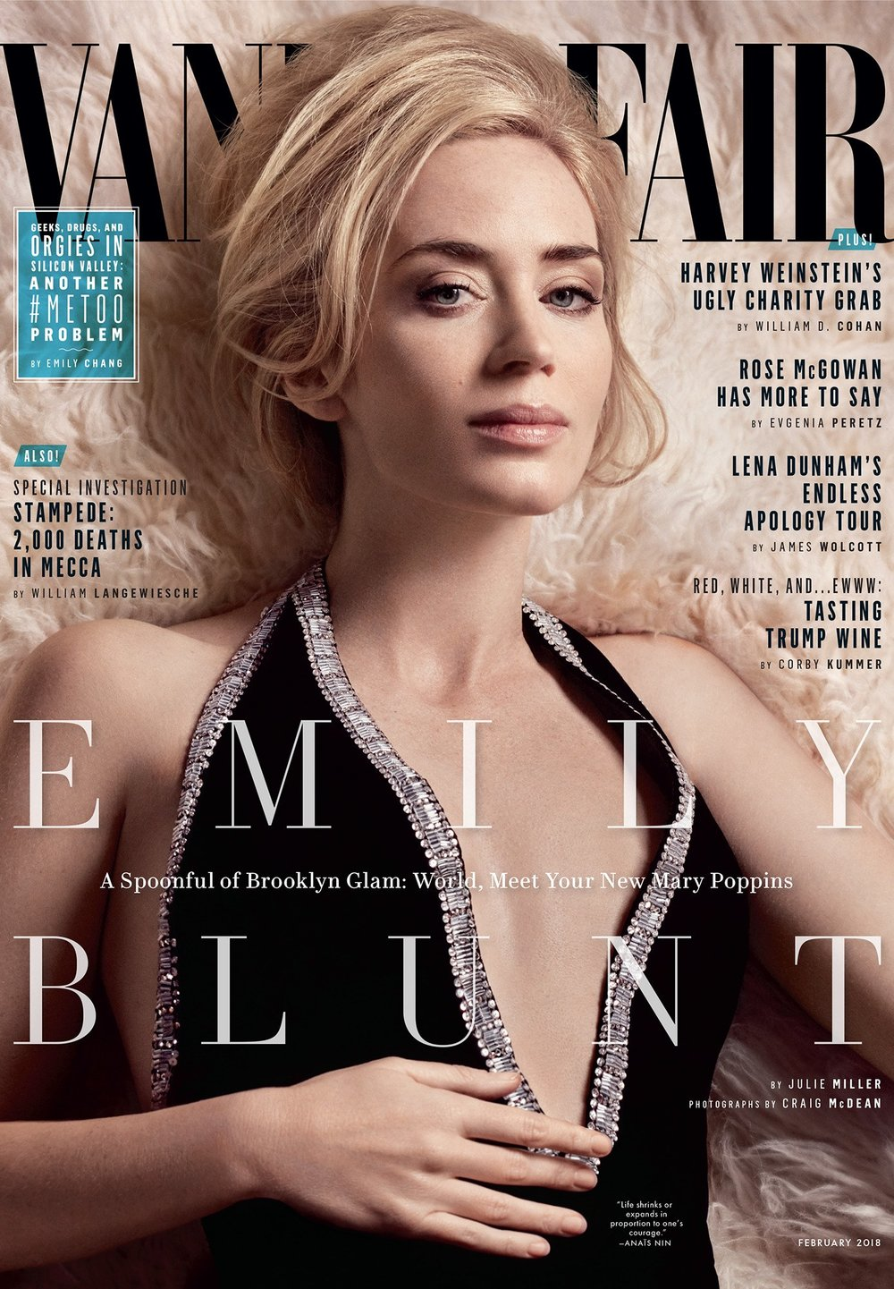 Emily Blunt - Vanity Fair February 2017