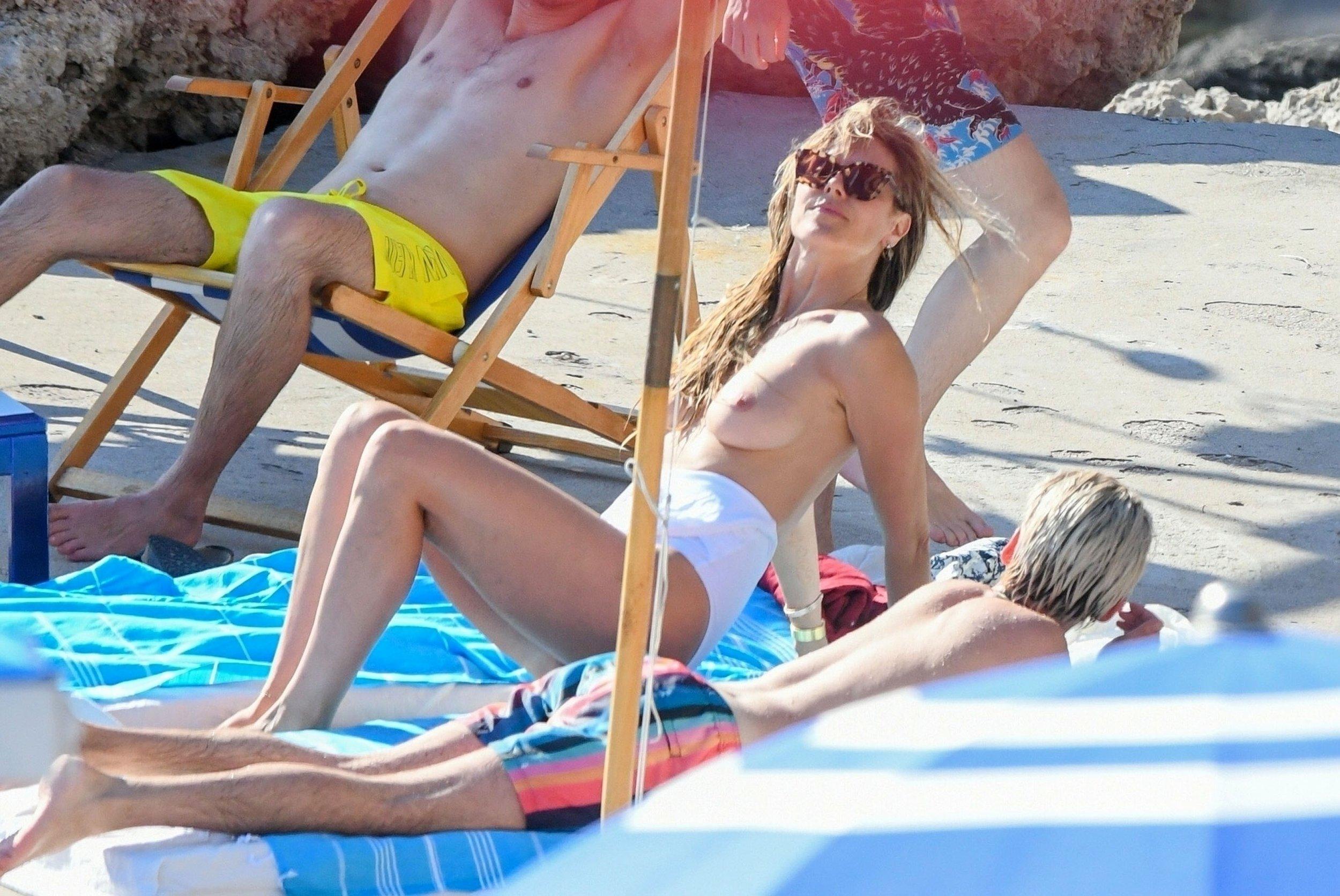 Heidi Klum Caught Topless in Capri (08/04/19)