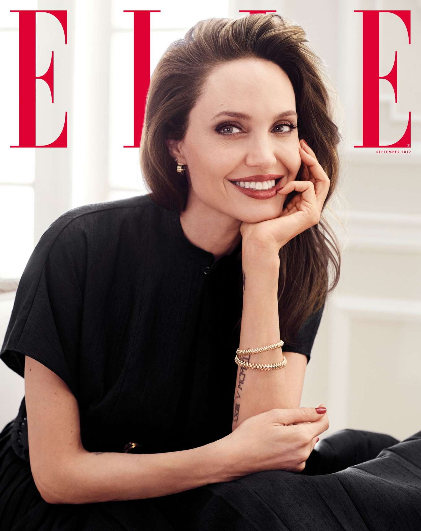 Angelina Jolie - ELLE September 2019