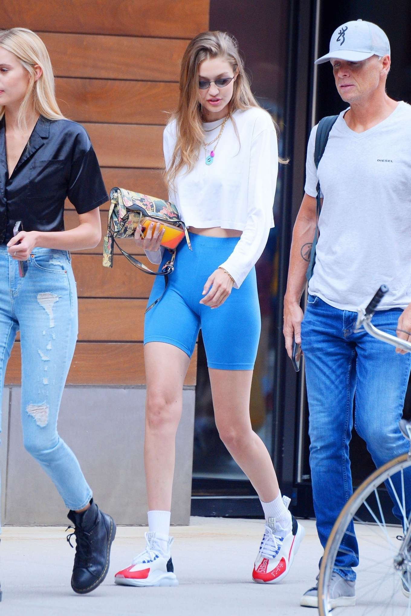 Gigi Hadid Steps Out of Her Apartment in NYC August 2019