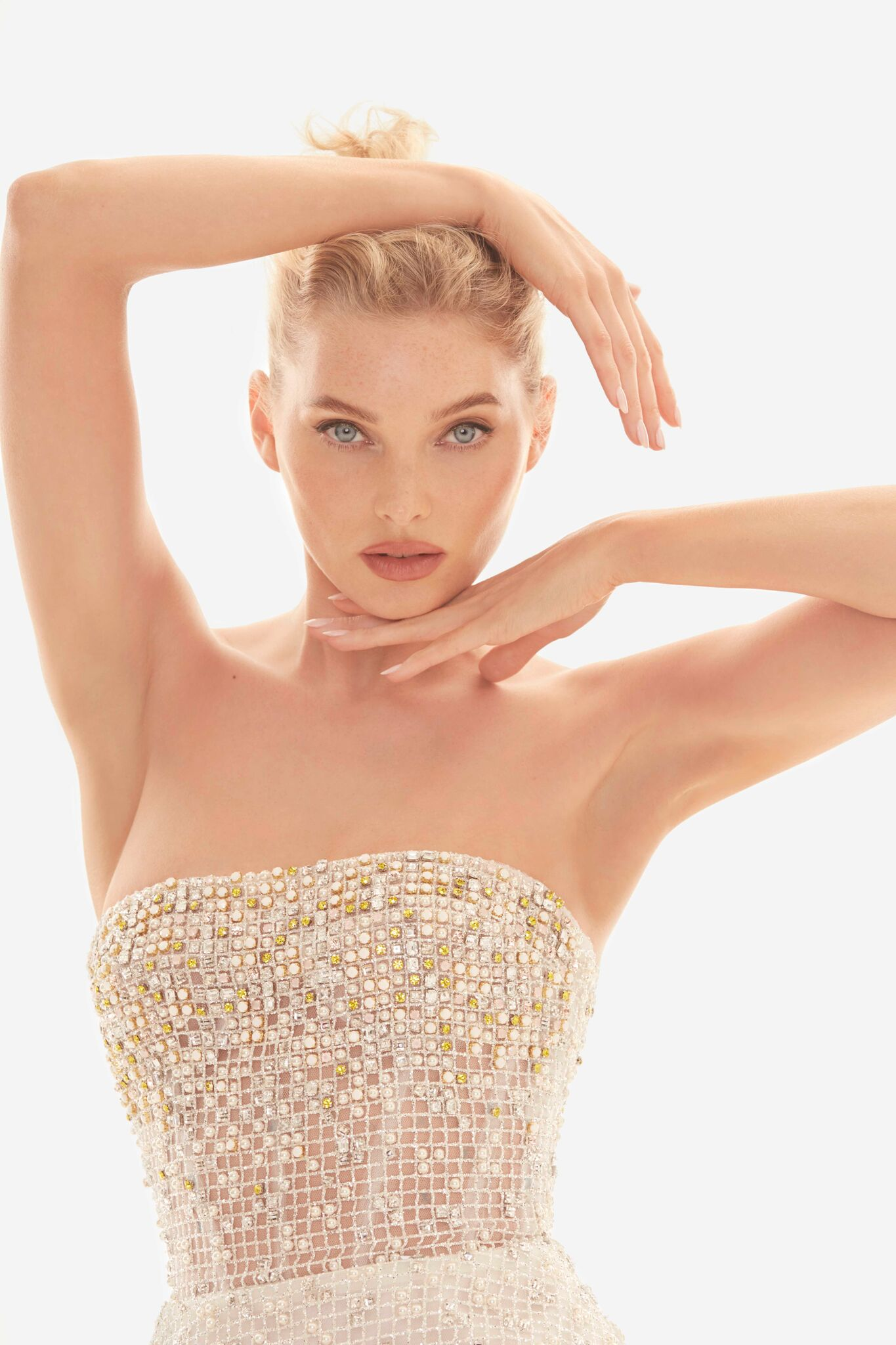 Elsa Hosk and Jessica Stam - Enchant in Nicole Felicia Couture Campaign 2019