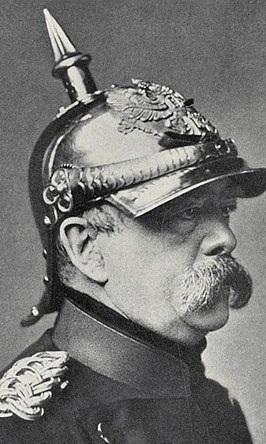 Otto von Bismarck in the Pickelhaube, circa 1880