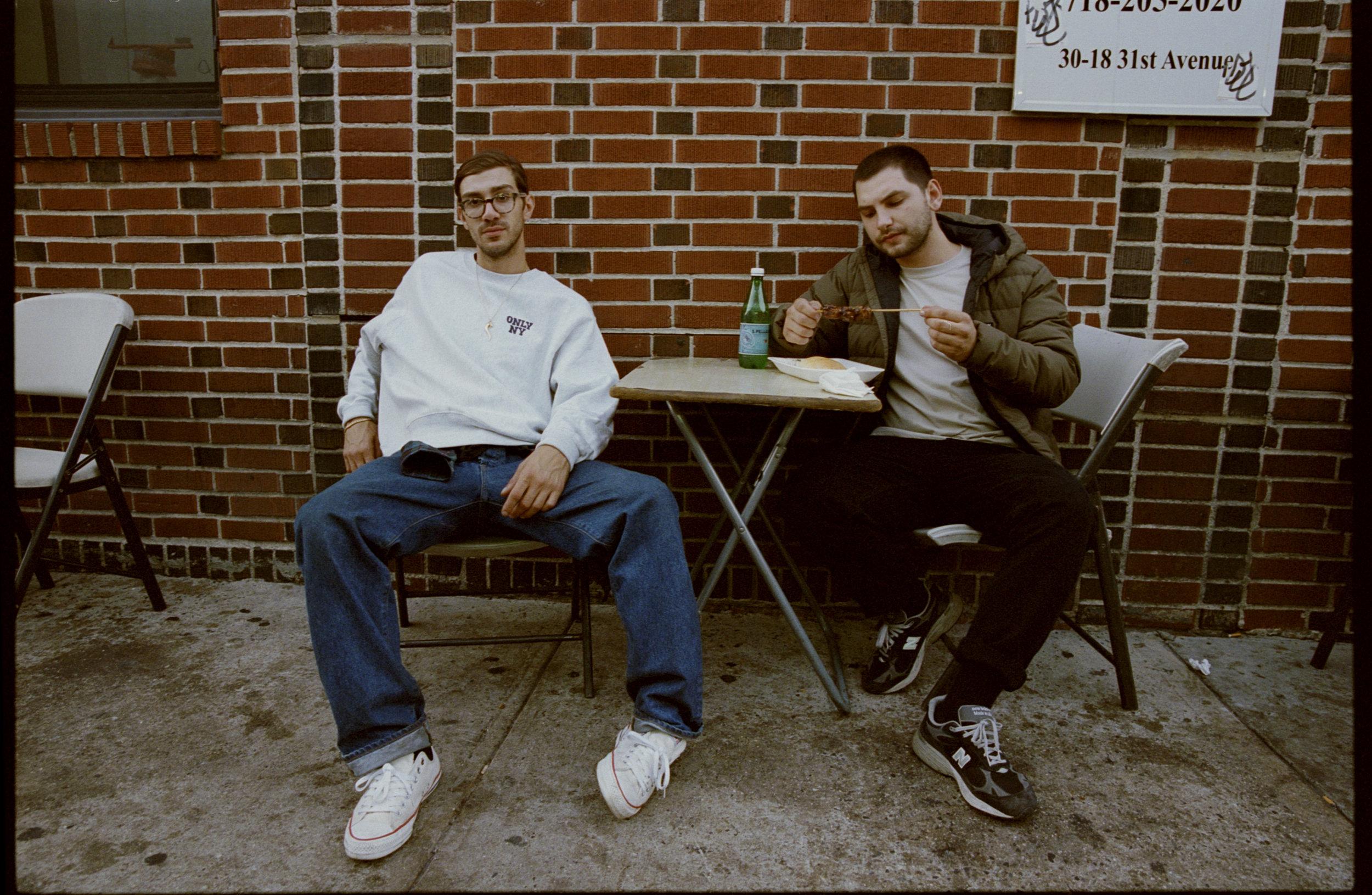 Dom and Geri Eating Souvlaki King #2, 2017 Cropped Minimal Border E1.jpg