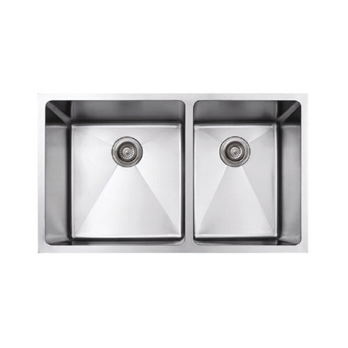 Handmade 50/50 Dual-Basin Stainless Steel Undermount Kitchen Sinks - GTS  888 LLC Texas, Granite, Tools, Sinks, Supplies