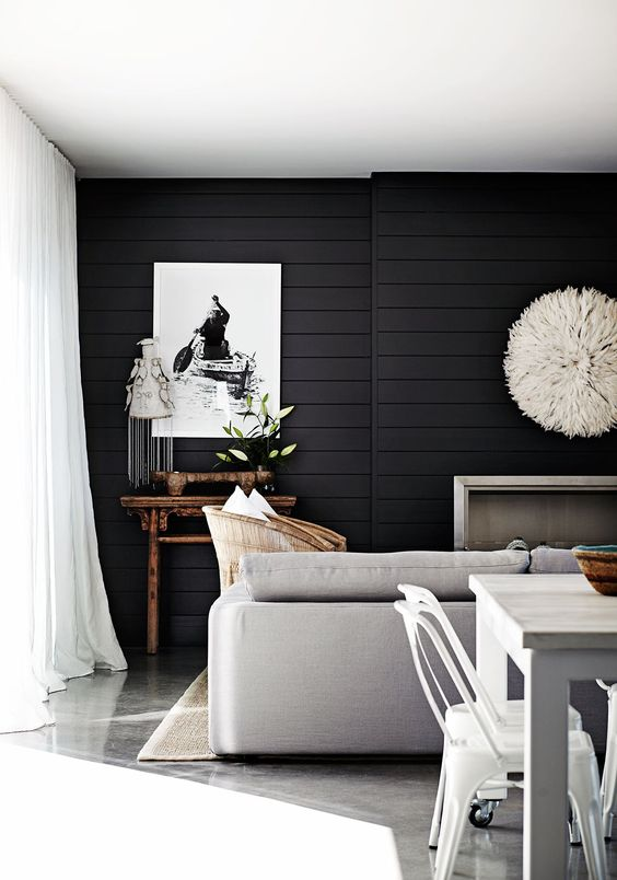 dark feature wall