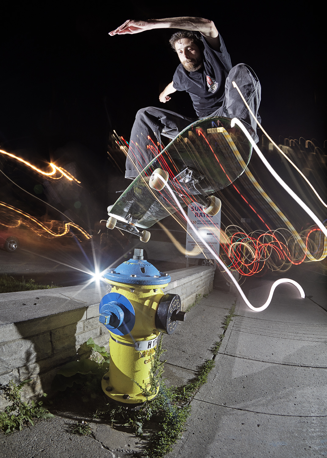 50-50 Ollie over the Hydrant - Photo: Will Jivcoff