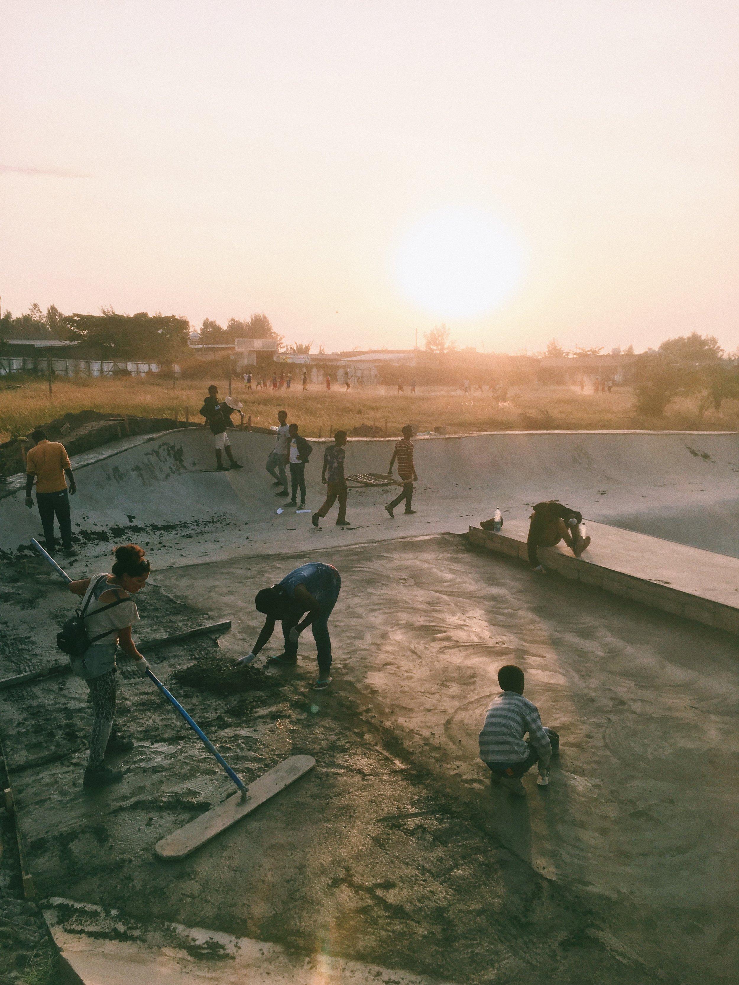 Lake Hawassa Skatepark Build, Ethiopia - Photo: Ben Hermans