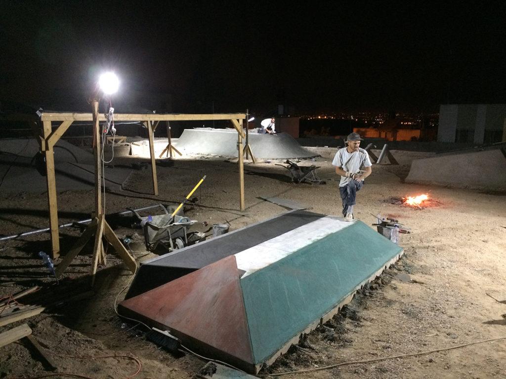 Palestinian Flag Ramp - Jayyous Skatepark, Palestine - Photo: Bort Noodle