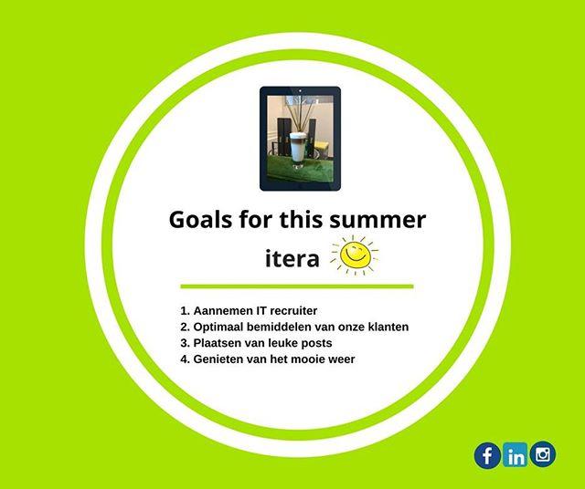 Wat zijn jouw Goals? #goals #summer