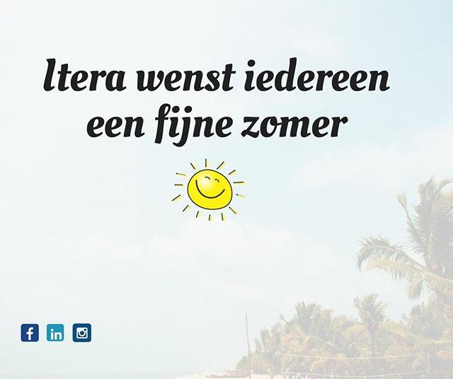 Wij gaan de hele zomer door. Mocht je trek hebben in een verfrissend drankje dan ben je van harte welkom.  Wil je jezelf niet vervelen in de vakantie kijk dan eens op https://www.itera.nl/vacatures