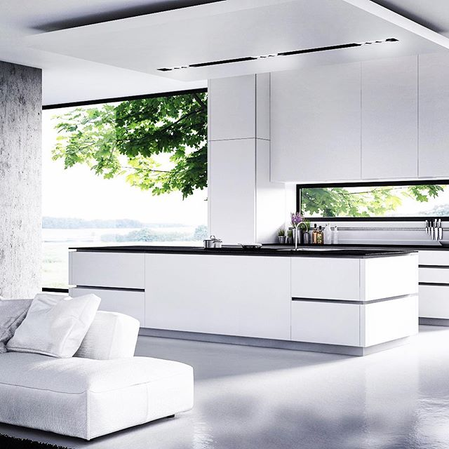 White Kitchen #white #kitchen #interior #concrete #lights #loft #house #couch #next_top_architects @dezeen @architizer #superarchitects #archilovers #architecturemodel #architecturedose #architecture_view  @critday @iarchitectures #arquitectura @arquitetapage #archilovers  @sky_high_architecture #archilife @creativfields @synarchitecture #architecturefactor #arch_impressive @restless.arch @fubiz #architects_need @uberkreative @designbunker #morpholio @arqsketch @artsytecture @modern.architect