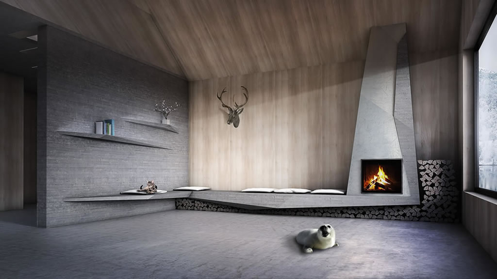 FIREPLACE ONE - LUXURY CONCRETE FIREPLACE
