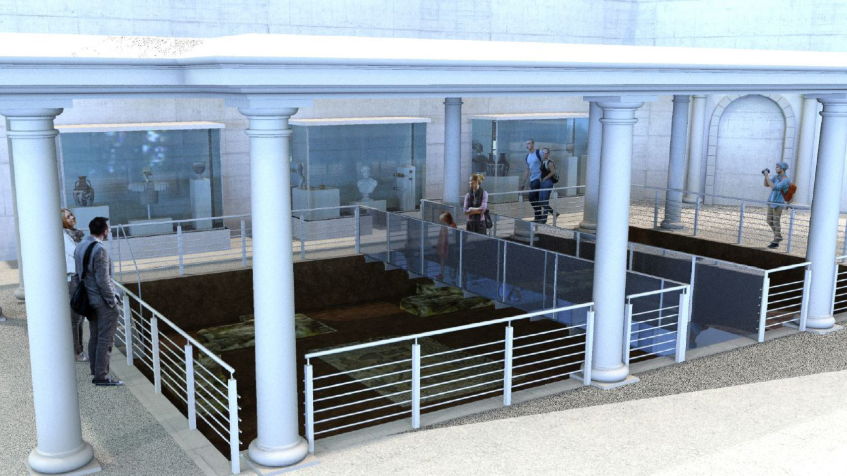 A concept visual of what a possible exhibition space may look like within the new visitor experience.  York Archaeological Trust  are planning a two-year excavation of the site prior to work staring on the attraction.