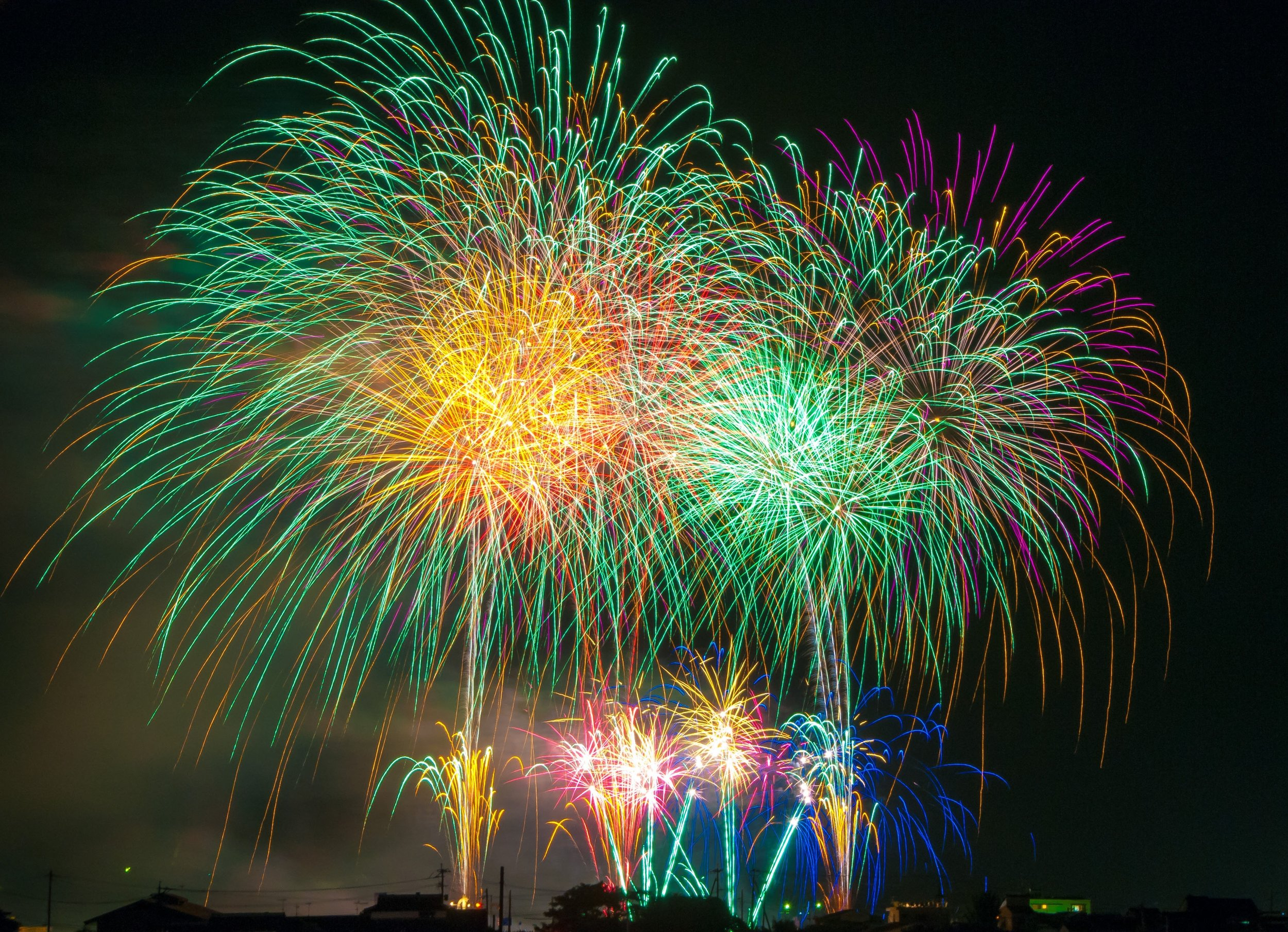 A colourful explosion